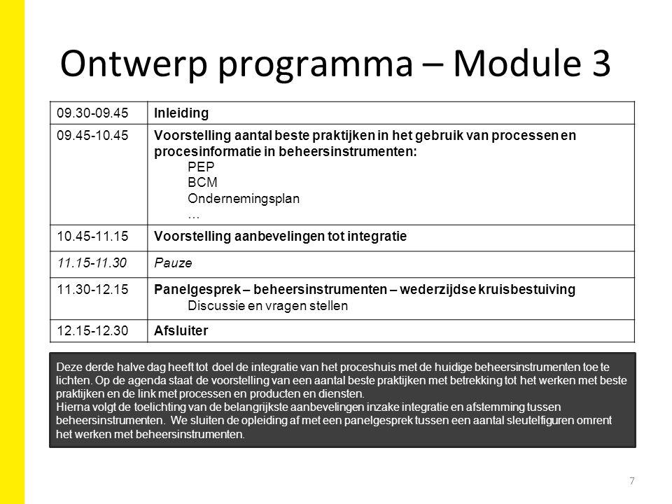 Ontwerp programma – Module 3