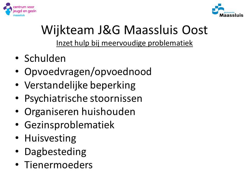 Wijkteam J&G Maassluis Oost Inzet hulp bij meervoudige problematiek