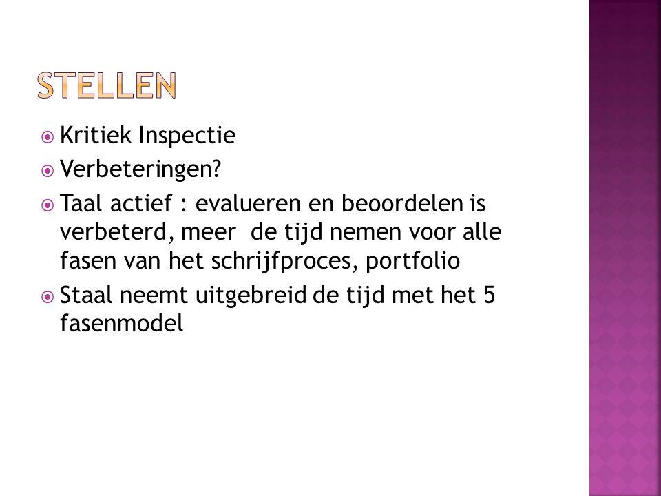 Stellen Kritiek Inspectie Verbeteringen