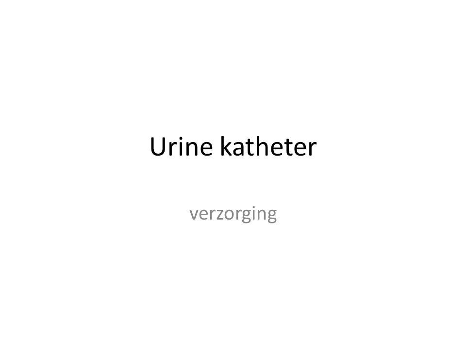 Urine katheter verzorging