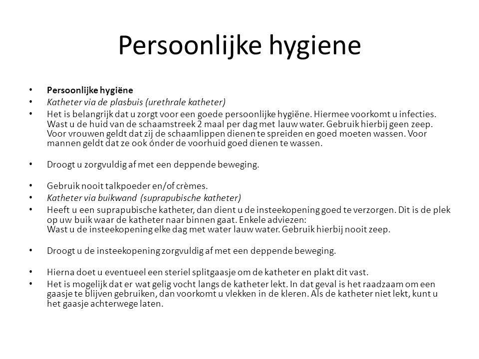 Persoonlijke hygiene Persoonlijke hygiëne