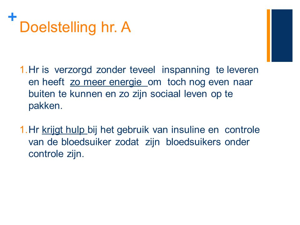 Doelstelling hr. A