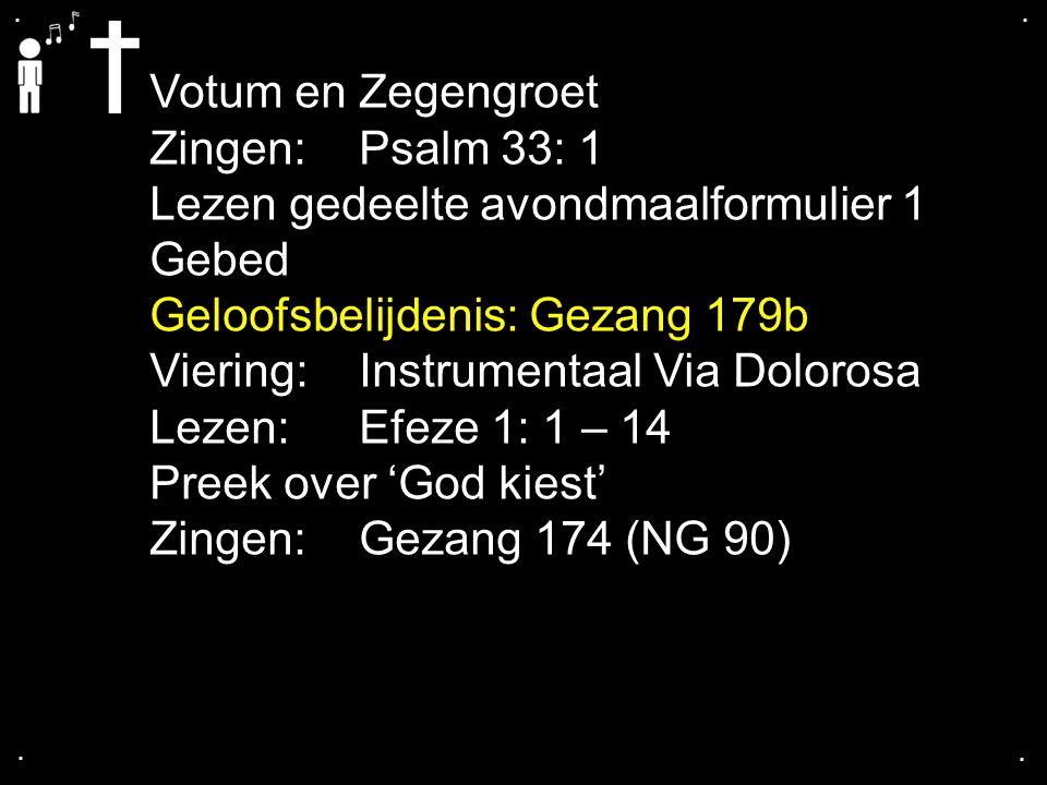 Lezen gedeelte avondmaalformulier 1 Gebed