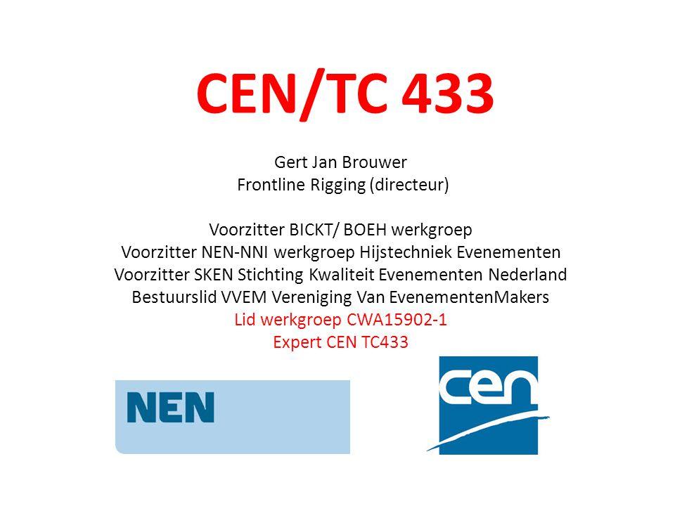 CEN/TC 433 Gert Jan Brouwer Frontline Rigging (directeur)