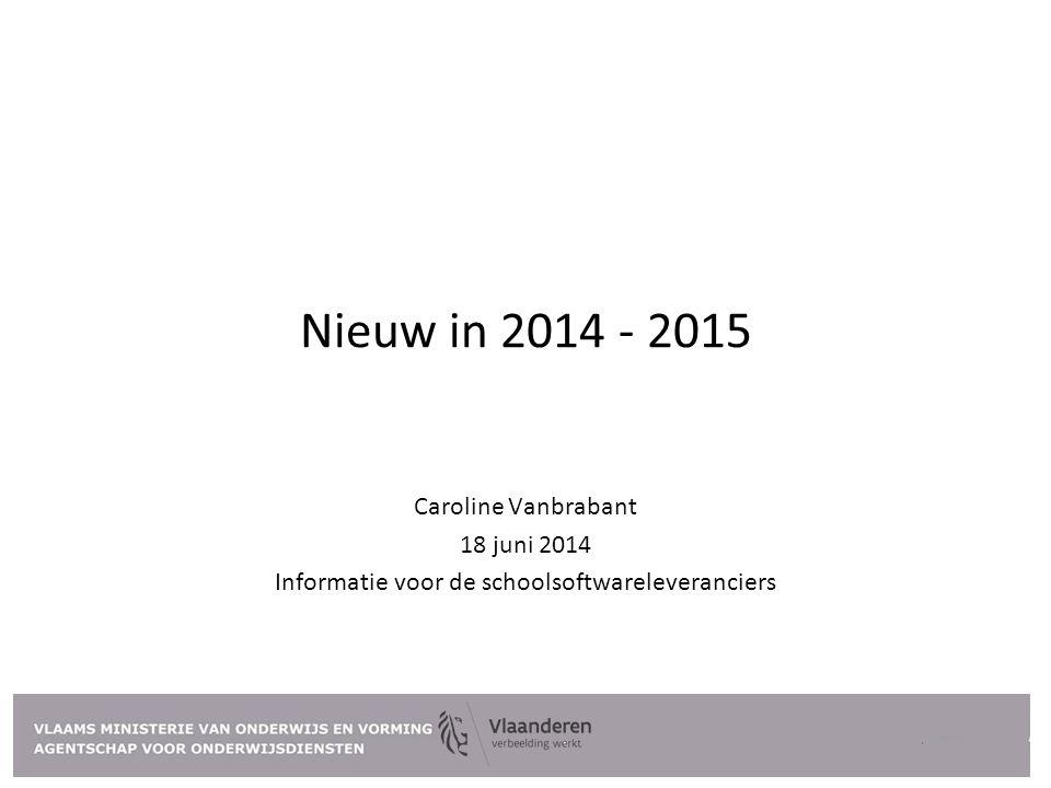 Informatie voor de schoolsoftwareleveranciers