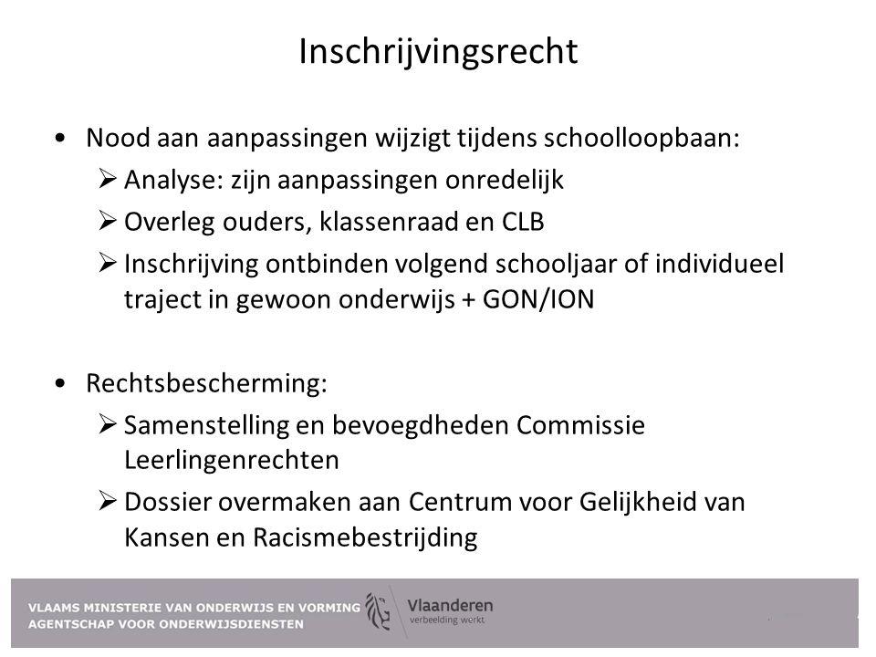 Inschrijvingsrecht Nood aan aanpassingen wijzigt tijdens schoolloopbaan: Analyse: zijn aanpassingen onredelijk.