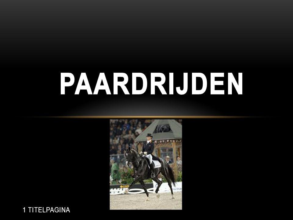 Paardrijden 1 TITELPAGINA