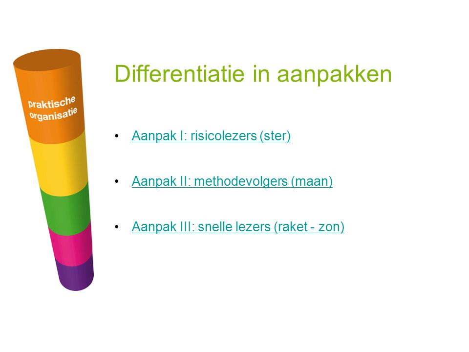 Differentiatie in aanpakken