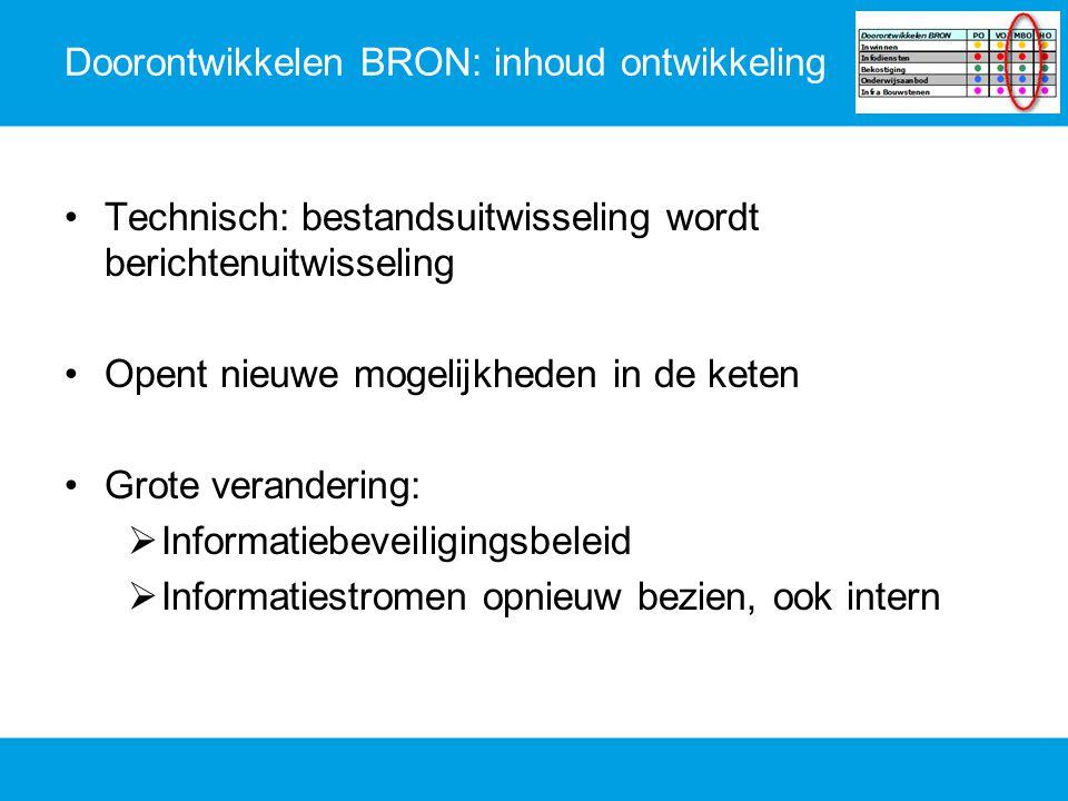 Doorontwikkelen BRON: inhoud ontwikkeling