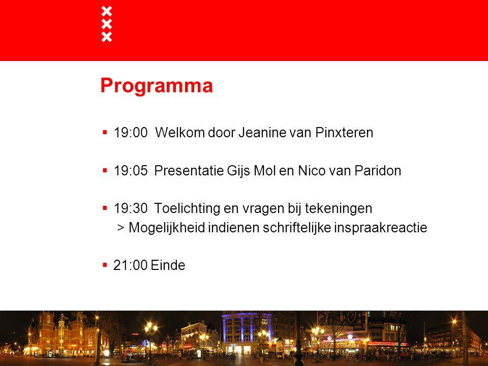 Programma 19:00 Welkom door Jeanine van Pinxteren