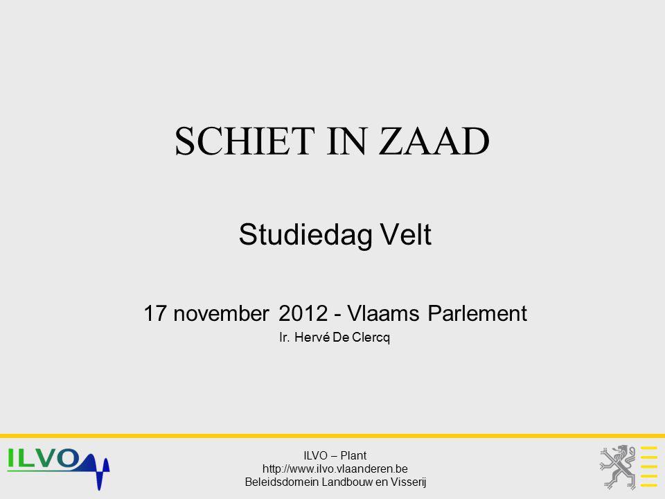 Studiedag Velt 17 november 2012 - Vlaams Parlement Ir. Hervé De Clercq