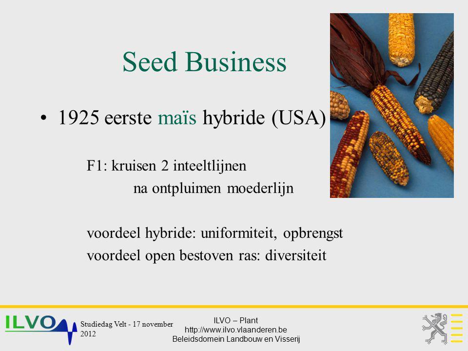 Seed Business 1925 eerste maïs hybride (USA)