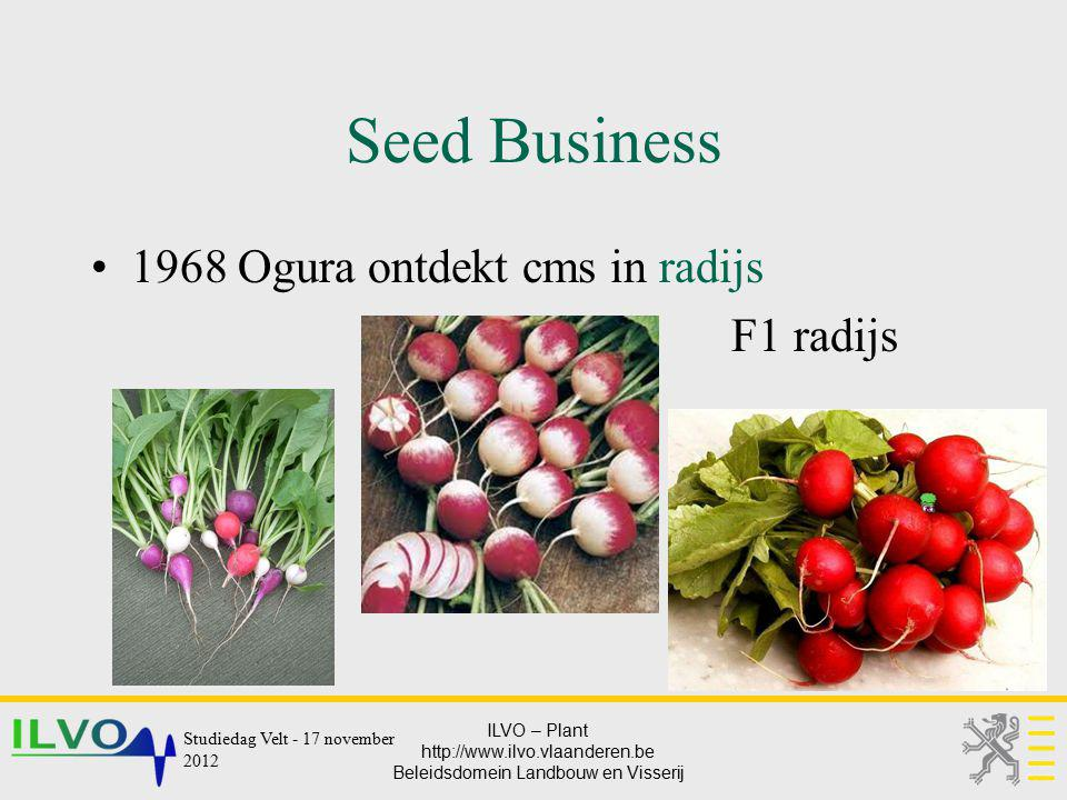 Seed Business 1968 Ogura ontdekt cms in radijs F1 radijs