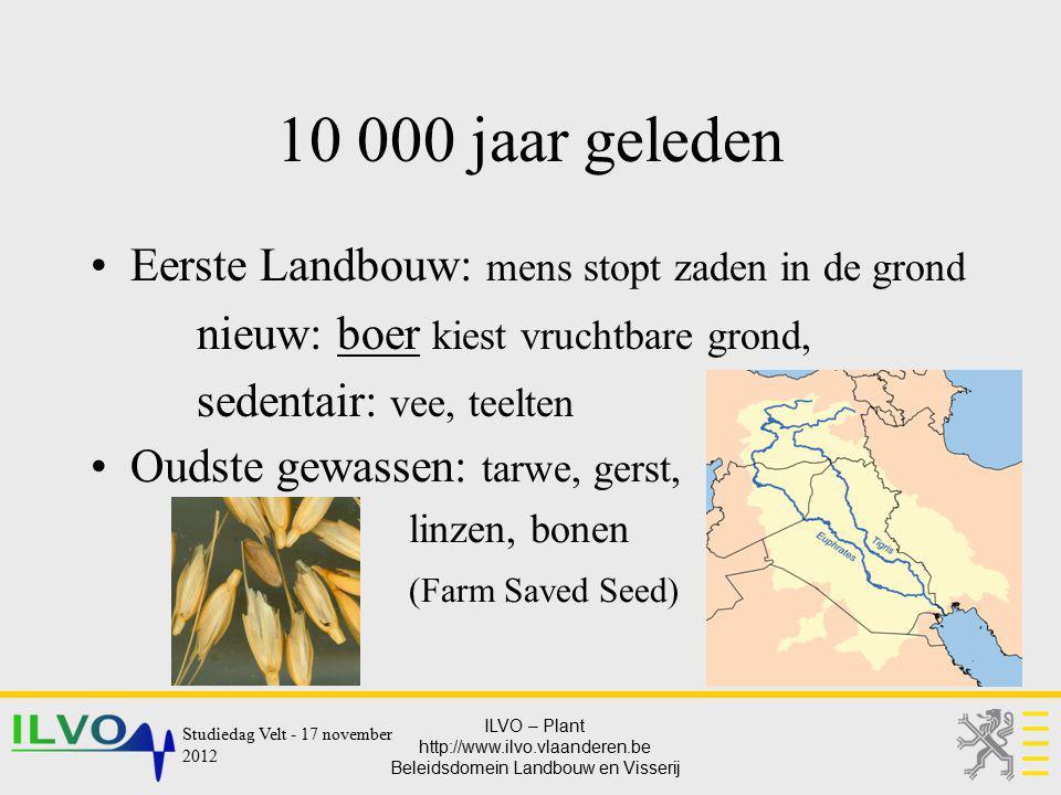 10 000 jaar geleden Eerste Landbouw: mens stopt zaden in de grond