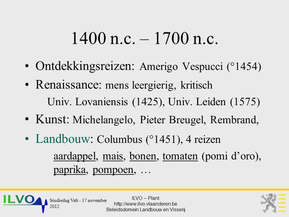 1400 n.c. – 1700 n.c. Ontdekkingsreizen: Amerigo Vespucci (°1454)