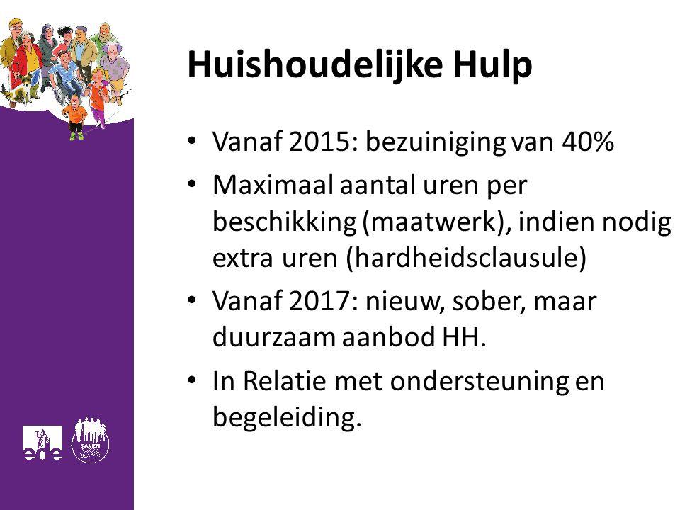 Huishoudelijke Hulp Vanaf 2015: bezuiniging van 40%