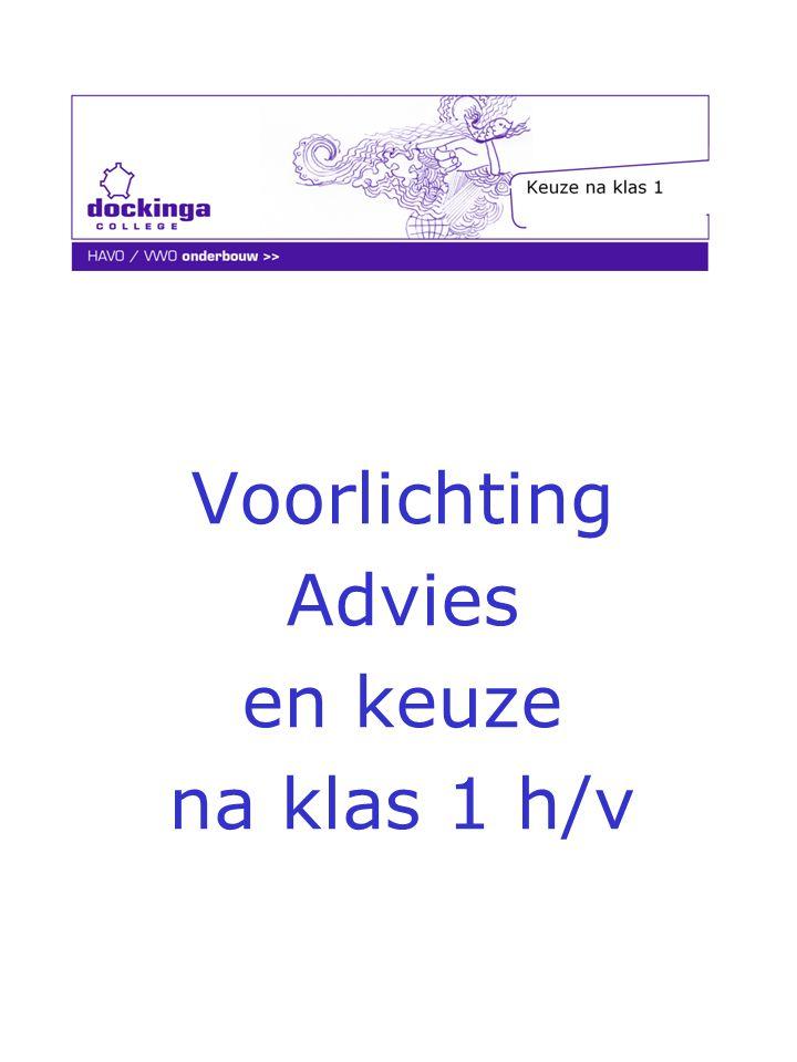 Voorlichting Advies en keuze na klas 1 h/v