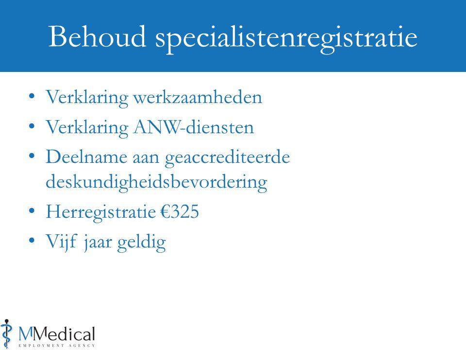 Behoud specialistenregistratie