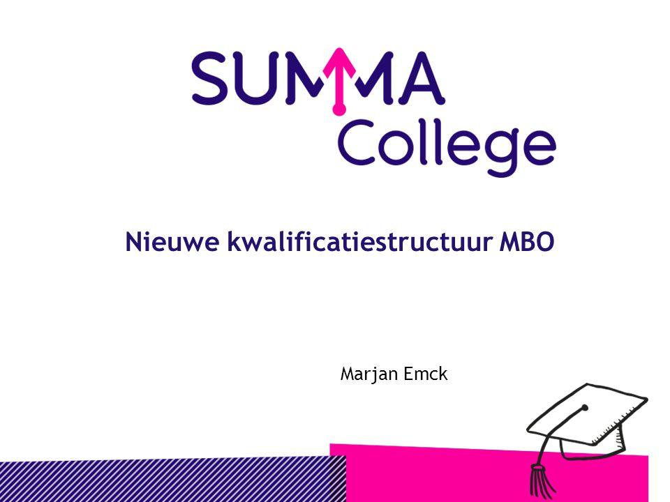 Nieuwe kwalificatiestructuur MBO