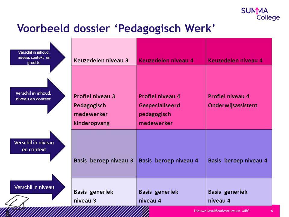 Voorbeeld dossier 'Pedagogisch Werk'