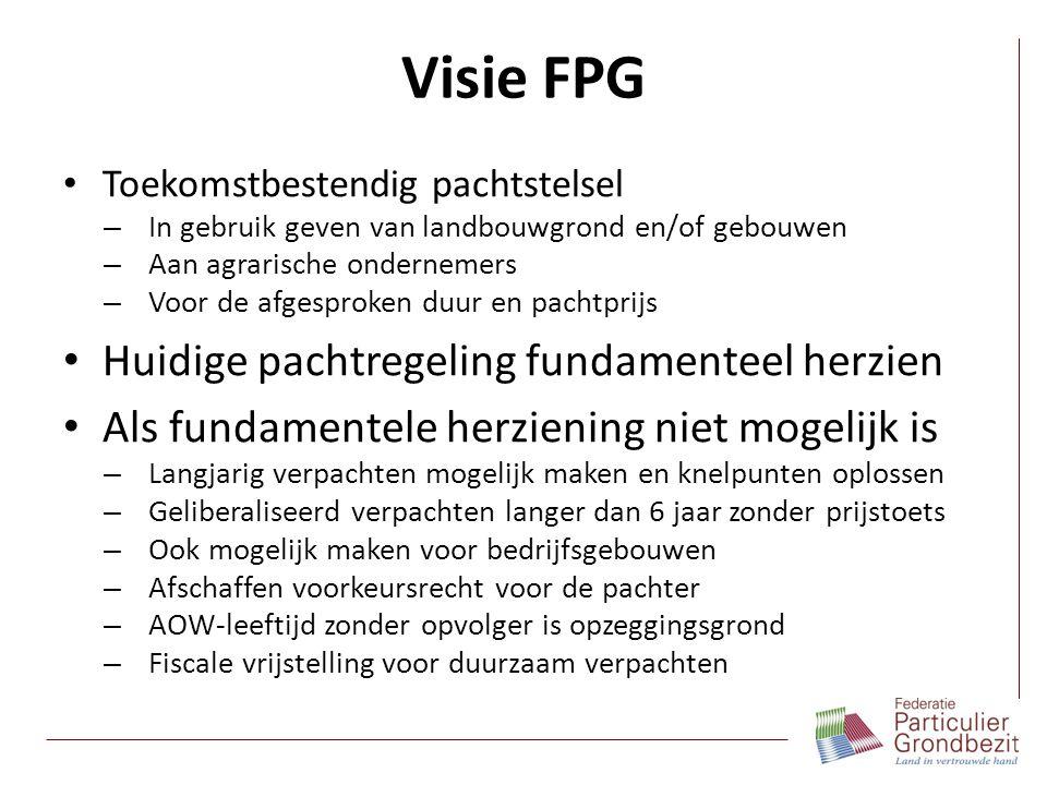 Visie FPG Huidige pachtregeling fundamenteel herzien