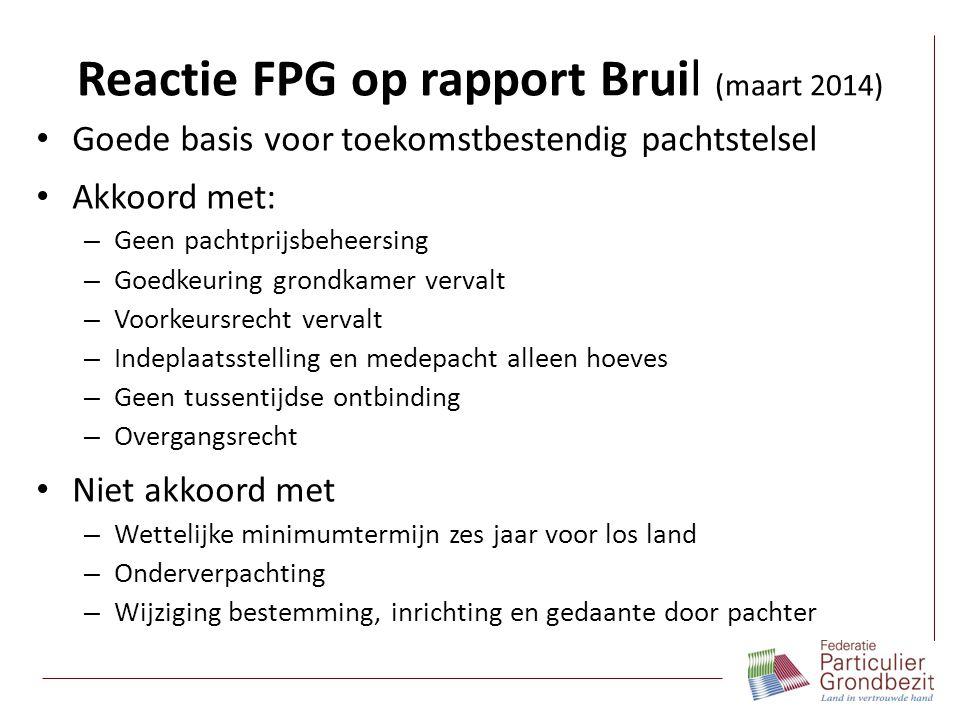 Reactie FPG op rapport Bruil (maart 2014)