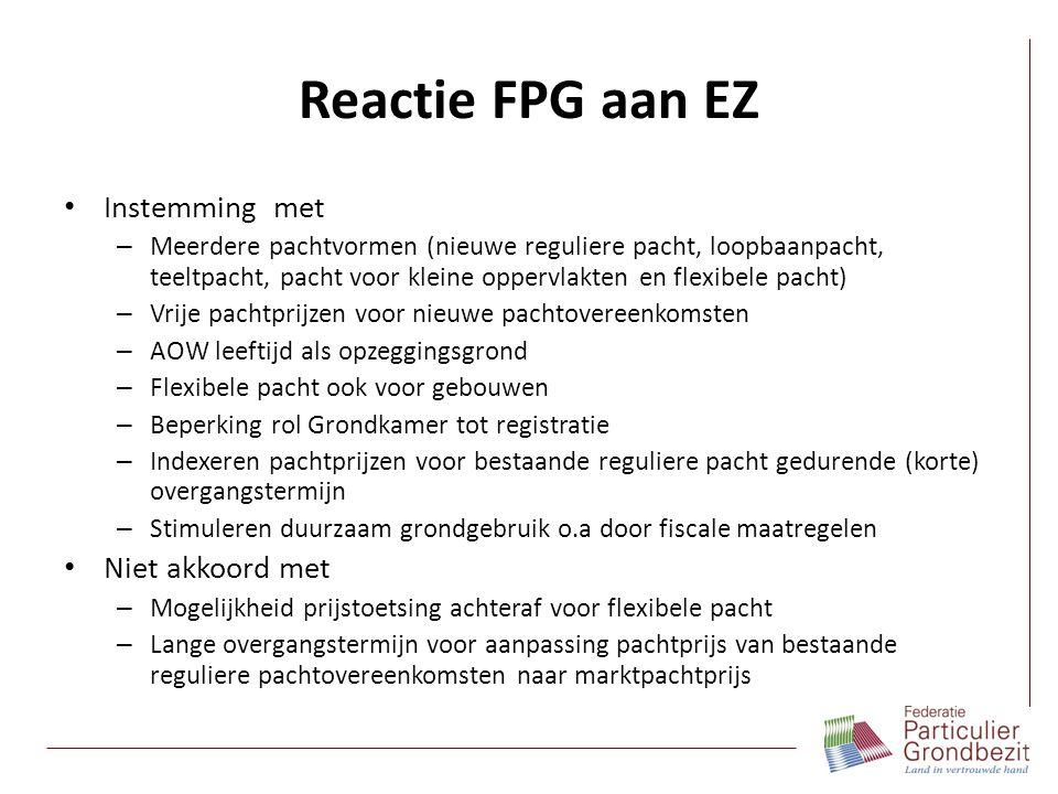 Reactie FPG aan EZ Instemming met Niet akkoord met