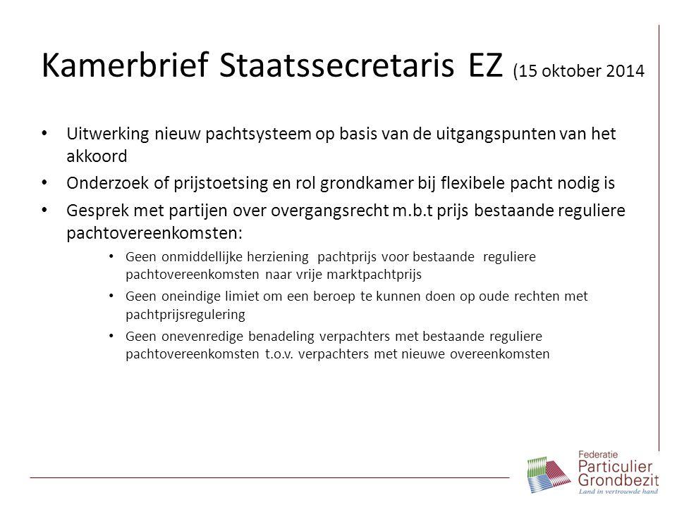 Kamerbrief Staatssecretaris EZ (15 oktober 2014