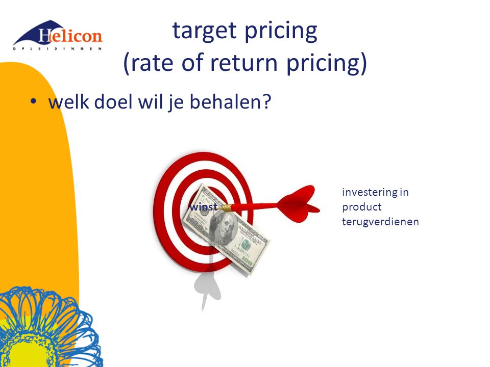target pricing (rate of return pricing)
