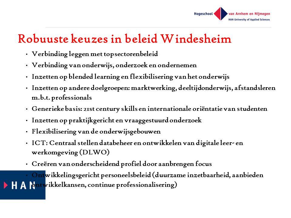 Robuuste keuzes in beleid Windesheim