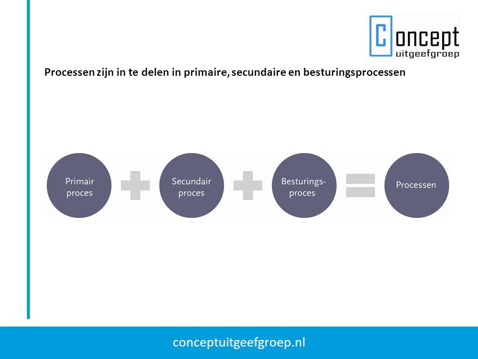 Processen zijn in te delen in primaire, secundaire en besturingsprocessen