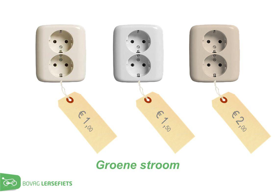 € 1,00 € 1,50 € 2,00 Groene stroom