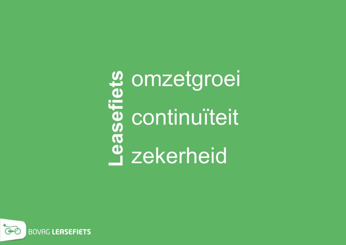 omzetgroei . continuïteit … zekerheid Leasefiets KOFFIE!