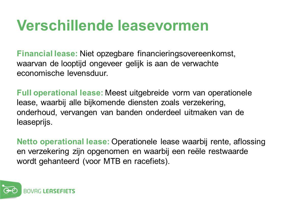 Verschillende leasevormen