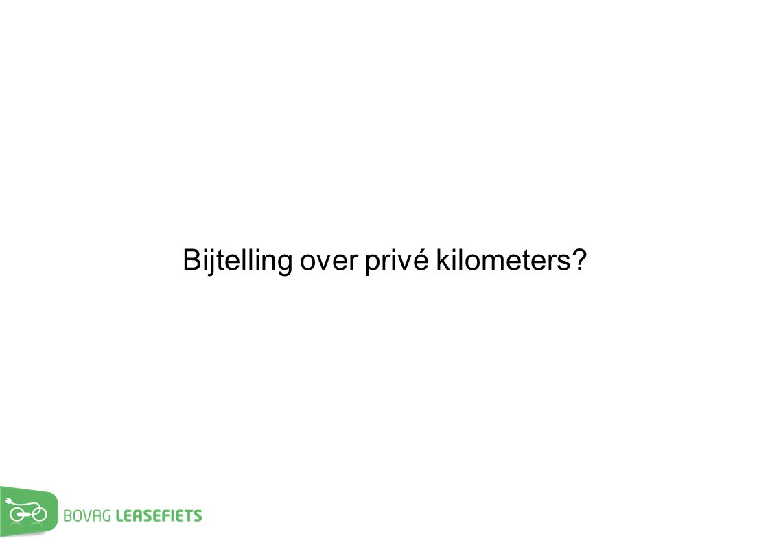 Bijtelling over privé kilometers