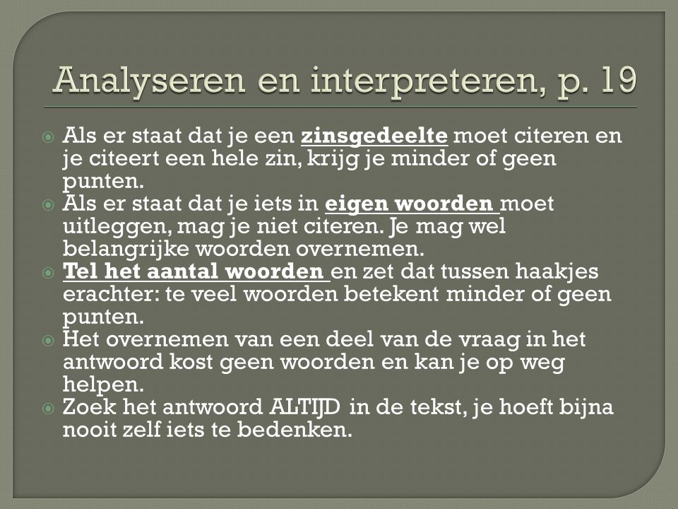 Analyseren en interpreteren, p. 19