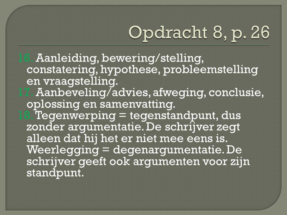 Opdracht 8, p. 26