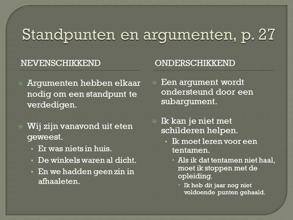 Standpunten en argumenten, p. 27