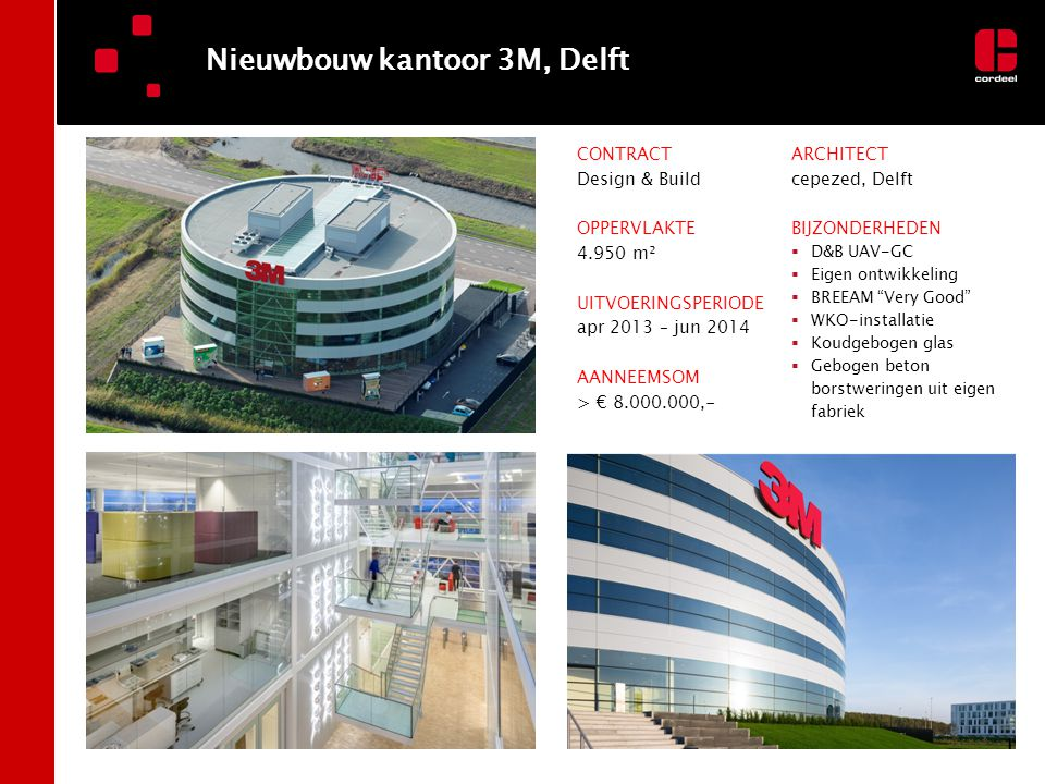 Nieuwbouw kantoor 3M, Delft