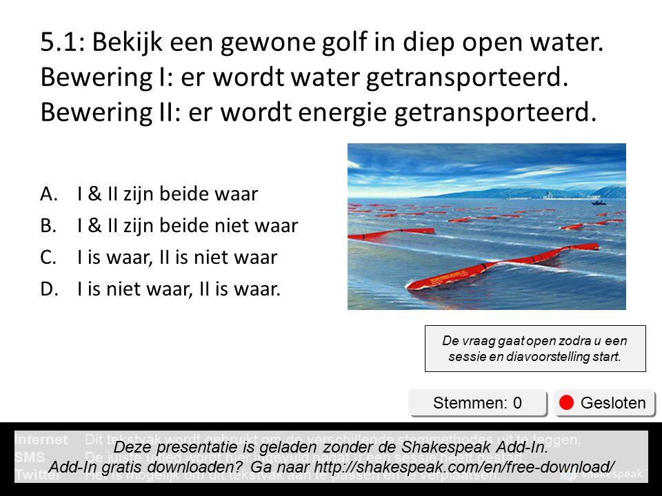 5. 1: Bekijk een gewone golf in diep open water