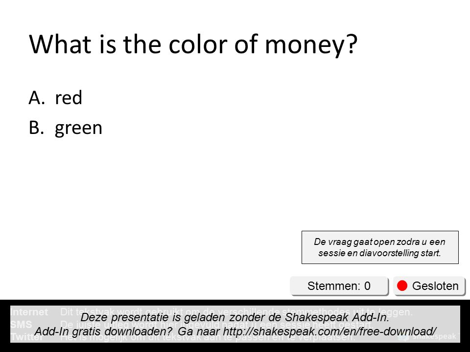 What is the color of money