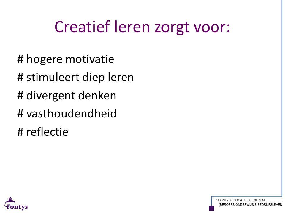 Creatief leren zorgt voor: