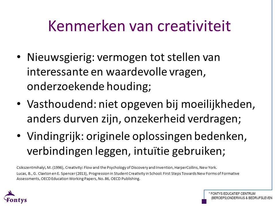 Kenmerken van creativiteit