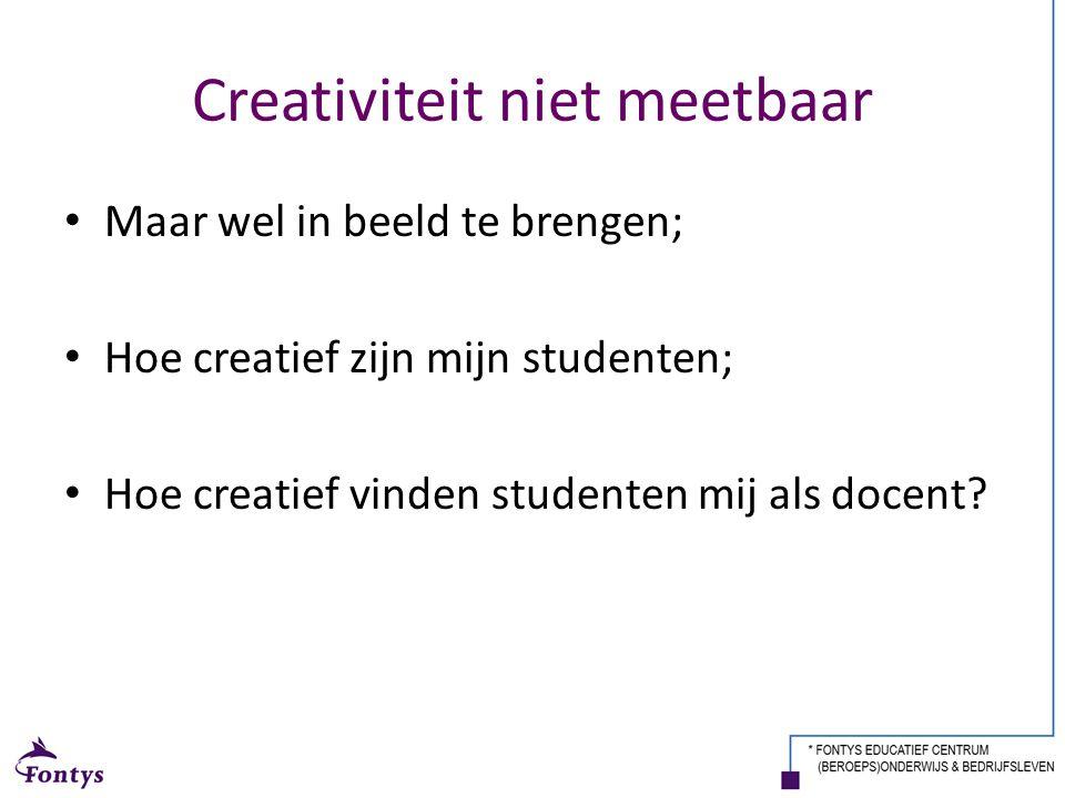 Creativiteit niet meetbaar