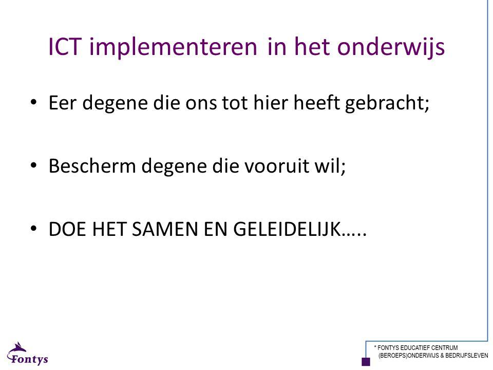 ICT implementeren in het onderwijs