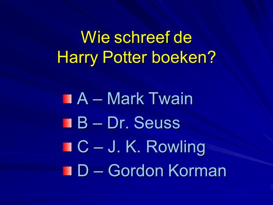 Wie schreef de Harry Potter boeken