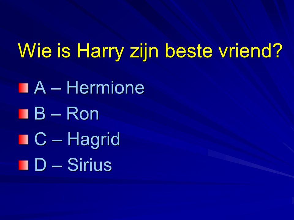 Wie is Harry zijn beste vriend