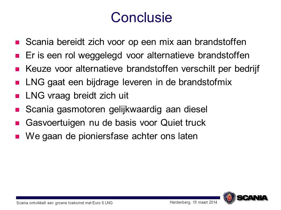 Conclusie Scania bereidt zich voor op een mix aan brandstoffen