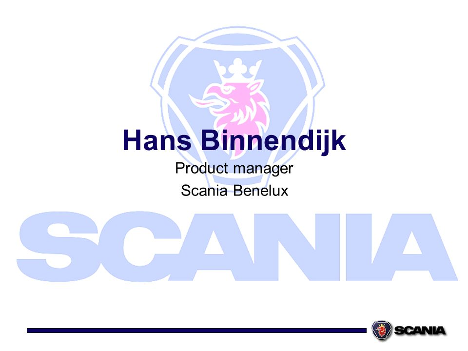 Product manager Scania Benelux