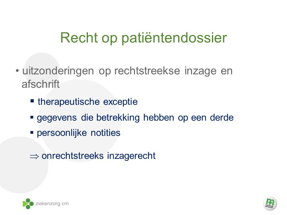 Recht op patiëntendossier